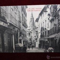 Postales: ANTIGUA POSTAL DE TOLEDO. CALLE DEL COMERCIO. FOTPIA. CASTAÑEIRA Y ALVAREZ. SIN CIRCULAR. Lote 49972443