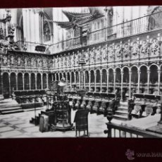 Postales: ANTIGUA FOTO POSTAL DE TOLEDO. CATEDRAL, EL CORO. SIN CIRCULAR. Lote 49972518