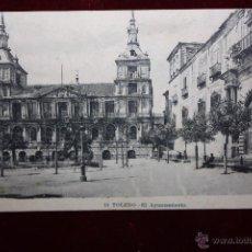 Postales: ANTIGUA POSTAL DE TOLEDO. EL AYUNTAMIENTO. FOT. LACOSTE. CIRCULADA. Lote 49972535