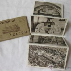 Postales: DESPLEGABLE DE 21 POSTALES DEL ALCAZAR DE TOLEDO. FOTOS DE JALON ANGEL Y HAUSER Y MENET. Lote 50238479