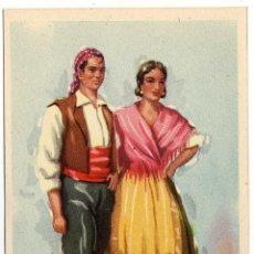Postales: PRECIOSA POSTAL - CUENCA - PAREJA ATAVIADOS CON TIPICOS - TRAJE REGIONAL. Lote 51083359