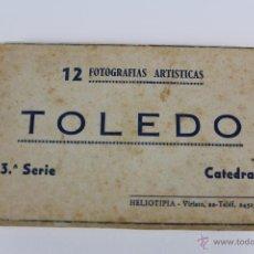Postales: P-2402 BLOC CON 12 POSTALES DE LA CATEDRAL DE TOLEDO. SERIE 3. HELIOTIPIA VIRIATO. Lote 51140498