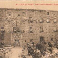 Postales: GUADALAJARA, PALACIO DEL INFANTADO, FACHADA PRINCIPAL - EDICIONES ALMIRALL Nº 841 - SIN CIRCULAR. Lote 51252343