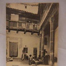 Postales: TOLEDO. UN PATIO. HAUSER Y MENET. MADRID. REVERSO SIN DIVIDIR.. Lote 51367666