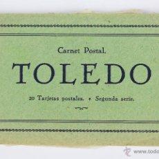 Postales: P-2519. TOLEDO. CARNET POSTAL. 20 TARJETAS POSTALES. SEGUNDA SERIE. COMPLETA. AÑOS 20-30.. Lote 51436819