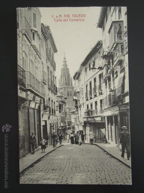 POSTAL TOLEDO. CALLE DEL COMERCIO. (Postales - España - Castilla La Mancha Antigua (hasta 1939))