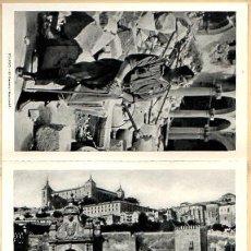 Postales: BLOC ALCAZAR DE TOLEDO. PRIMERA SERIE DE 11 POSTALES. HUECOGRABADO FOURNIER, VITORIA. AÑO 1960. Lote 51715202