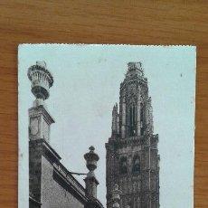 Postales: ANTIGUA POSTAL TOLEDO TORRE CATEDRAL. SIN ESCRIBIR. Lote 51996598