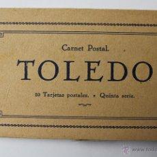 Postales: BP-47. TOLEDO.CARNET POSTAL. 5ª SERIE. 20 TARJETAS POSTALES. CASA DEL GRECO.. Lote 52434833