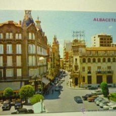 Cartes Postales: POSTAL ALBACETE.-PL.CAUDILLO Y MARQUES DE MOLINS-ESCRITA. Lote 52719845