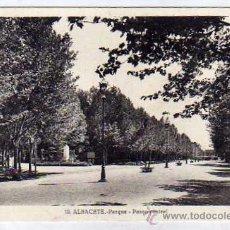 Postales: ALBACETE 10. PARQUE. PASEO CENTRAL. L ROISIN. ESCRITA. SIN CIRCULAR.. Lote 52888070