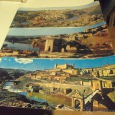 Postales: POSTALES PANORAMICAS DE TOLEDO DE LOS 60 DE GRAN TAMAÑO SIN CIRCULAR. Lote 53491362