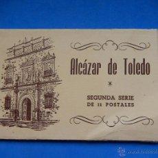 Postales: LIBRILLO DE POSTALES. ALCÁZAR DE TOLEDO. SEGUNDA SERIE DE 11 POSTALES. 1960.. Lote 53798939