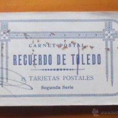 Postales: RECUERDO DE TOLEDO 25 TARJETAS POSTALES SEGUNDA SERIE. Lote 52662436