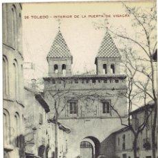 Postales: PS5523 TOLEDO 'INTERIOR DE LA PUERTA DE LA VISAGRA'. M.H. SIN CIRCULAR. Lote 46769507