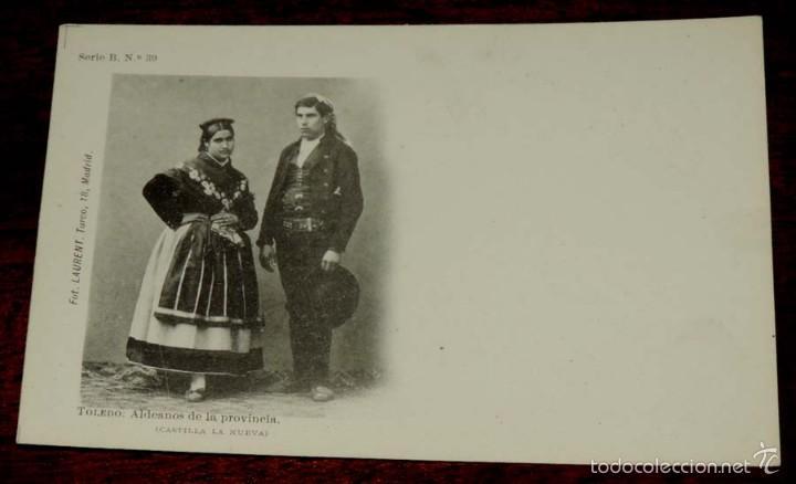 TOLEDO, ALDEANOS DE LA PROVINCIA (CASTILLA LA NUEVA), FOT. LAURENT, SIGLO XIX SERIE B Nº 39, SIN CIR (Postales - España - Castilla La Mancha Antigua (hasta 1939))