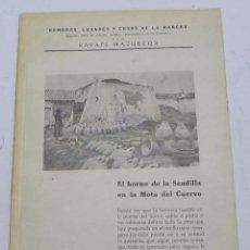 Postales: HOMBRES, LUGARES Y COSAS DE LA MANCHA, DEDICADO A LA ALFARERIA MANCHEGA, POR RAFAEL MAZUECOS, HORNO . Lote 56116455