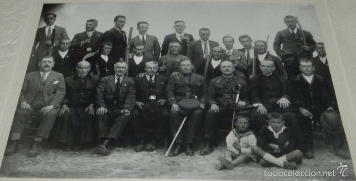 FOTOGRAFIA DE SOMATEN DE UN PUEBLO DE TOLEDO, 1926, FOTO NUÑEZ, MADRIDEJOS (TOLEDO), CON DEDICATORIA (Postales - España - Castilla La Mancha Antigua (hasta 1939))