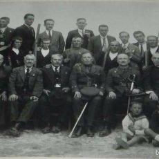 Postales: FOTOGRAFIA DE SOMATEN DE UN PUEBLO DE TOLEDO, 1926, FOTO NUÑEZ, MADRIDEJOS (TOLEDO), CON DEDICATORIA. Lote 56230640