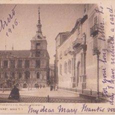 Postales: P- 5059. POSTAL TOLEDO. EL AYUNTAMIENTO Y EL PALACIO ARZOBISPAL. COL. CANOVAS SERIE T 7. . Lote 56379707