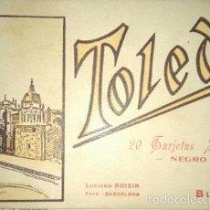 Postales: TOLEDO 20 TARJETAS POSTALES EN NEGRO DE ROISIN BLOK Nº1 . Lote 56523712