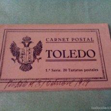 Postales: TARJETA POSTAL - 20 TARJETAS (CARNET POSTAL-LIBRITO) - TOLEDO - 1ª SERIE - GRAFOS-MADRID.. Lote 56536293