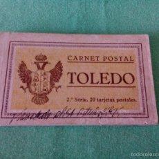 Postales: TARJETA POSTAL - 20 TARJETAS (CARNET POSTAL - LIBRITO). TOLEDO - 2ª SERIE - GRAFOS-MADRID.. Lote 56536824