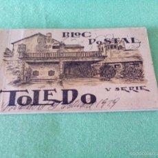 Postales: TARJETA POSTAL 20 TARJETAS (BLOC POSTAL-LIBRITO) - TOLEDO - V SERIE - HELIOTIPIA ARTÍSTICA ESPAÑOLA. Lote 56537146