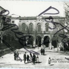 Postales: ALCARAZ (ALBACETE). CASA CONSISTORIAL. EDICION FOTO LÓPEZ Nº 3. FOTOGRAFICA.. Lote 56830698