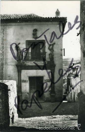 ALCARAZ (ALBACETE). ANTIGUA CASA DE LOS GALIANOS. EDIC. ARRIBAS Nº 4. FOTOGRAFICA. (Postales - España - Castilla La Mancha Antigua (hasta 1939))