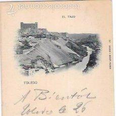 Postales: TARJETA POSTAL DE TOLEDO. EL TAJO. HAUSER Y MENET. Nº141.. Lote 56909369