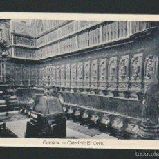 Postales: CUENCA.CATEDRAL:EL CORO. HELIOTIPIA ARTÍSTICA ESPAÑOLA. SIN CIRCULAR.. Lote 57504571