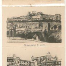 Postales: TOLEDO. CARTERITA DEL ALCAZAR. CONTIENE 16 POSTALITAS (9X6). Lote 57652122