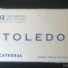 Postales: MINI BLOC CATEDRAL DE TOLEDO. ACORDEÓN 12 VISTAS - ESTUDIO LUIS ARRIBAS (AÑOS 1940). Lote 57686087