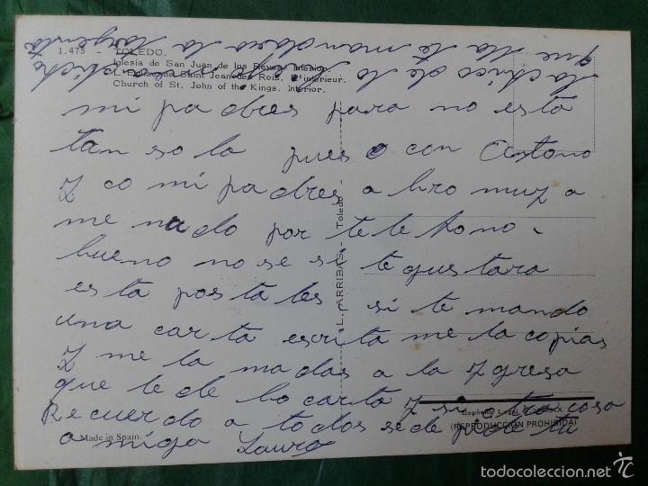 Postales: Preciosa postal Iglesia San Juan de los Reyes, Toledo, años 70 - Foto 2 - 57816063