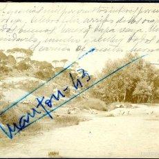 Postales: LA GINETA (ALBACETE). LAVANDERAS EN EL RIO JÚCAR. Lote 57874824