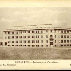 Postales: PUERTOLLANO (CIUDAD REAL). AMBULATORIO. UNA OBRA DE JUSTICIA SOCIAL DE FRANCO. REVERSO IMPRESO.. Lote 57875080