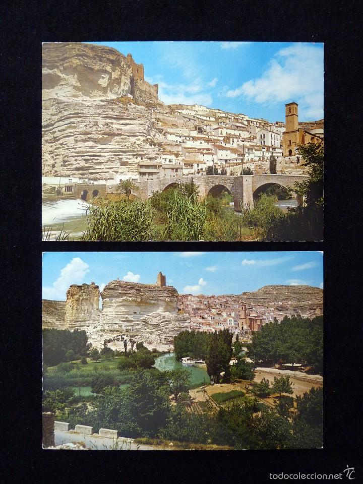 LOTE DE 2 ANTIGUAS POSTALES DE ALCALÁ DEL JUCAR (ALBACETE). ARRIBAS. AÑOS 60 (Postales - España - Castilla la Mancha Moderna (desde 1940))