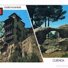 Postales: POSTAL ANTIGUA CUENCA SIN CIRCULAR CASAS COLGADAS PUENTE ROMANO. Lote 58670302