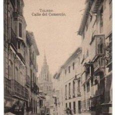 Postales: TARJETA POSTAL TOLEDO. CALLE DEL COMERCIO. FOTOTIPIA J. ROIG. Lote 58679950