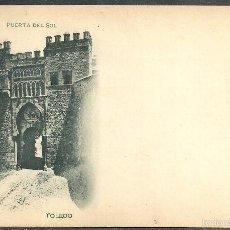 Postales: TOLEDO - PUERTA DEL SOL - 132 ROMO & FÜSSEL,LIBRERIA, SIN DIVIDIR - ESCUDO REAL -. Lote 59727455