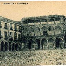 Postales: BONITA POSTAL - SIGUENZA (GUADALAJARA) - PLAZA MAYOR . Lote 60299807