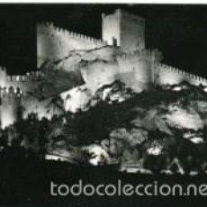Postales: ALMANSA (ALBACETE). VISION NOCTURNA DEL CASTILLO. FOTO SANTANDREU. Lote 60670367