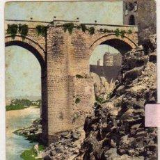 Postales - Toledo. Puente San Martín (Vista vertical) . Purger 2782 Reverso sin dividir. Sin circular. - 60859755