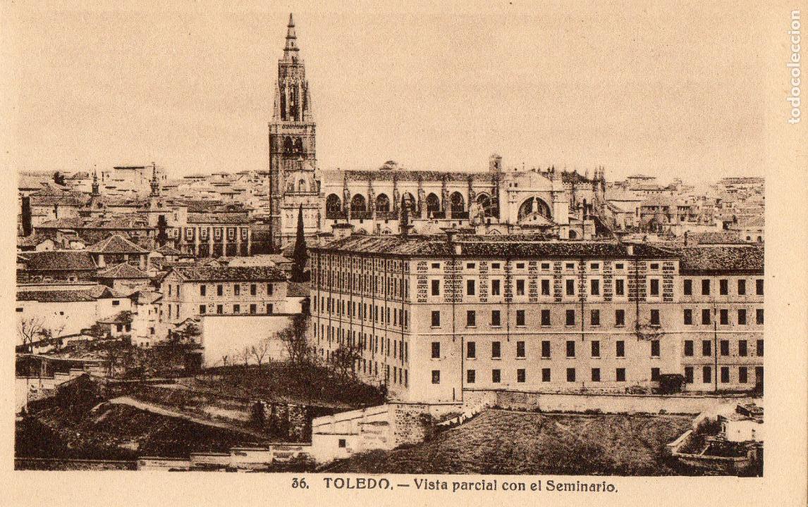 TOLEDO. VISTA PARCIAL CON EL SEMINARIO. NO ESCRITA (Postales - España - Castilla La Mancha Antigua (hasta 1939))