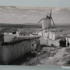 Cartes Postales: ANTIGUA POSTAL BLANCO NEGRO CAMPO CRIPTANA MOLINOS LA MANCHA RUTA QUIJOTE – AÑOS 60 – BUEN ESTADO. Lote 62269224