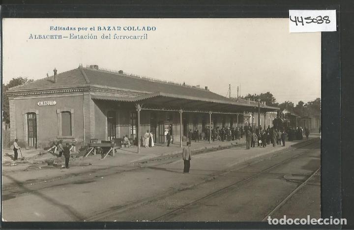 ALBACETE - ESTACION FERROCARRIL - BAZAR COLLADO - FOTOGRAFICA -VER REVERSO - (ZG-45.038) (Postales - España - Castilla La Mancha Antigua (hasta 1939))