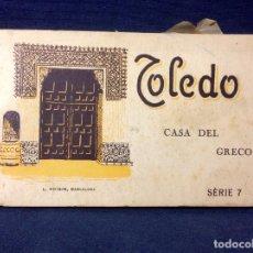 Postales: TOLEDO BLOC 20 POSTALES CASA DEL GRECO SERIE 7 L. ROISIN BARCELONA. Lote 66238762