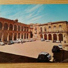 Postales: POSTAL ALCARAZ, ALBACETE. ARCO DE AHORI Y LONJA REGATERIA. Lote 69009033