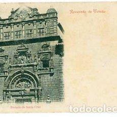 Cartes Postales: TOLEDO RECUERDO. PORTADA DE SANTA CRUZ. ED. VDA. DE MUÑOZ Y SOB. . REVERSO SIN DIVIDIR. SIGLO XIX . Lote 69103281